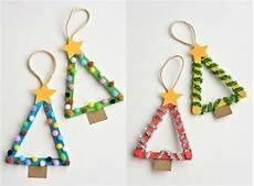 weihnachten basteln kinder tannenb 228 ume eisstiele