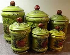 kitchen ceramic canister sets lefton kitchen canister set ceramic signed by castellocasa