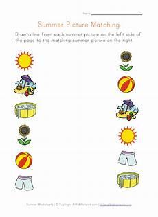 preschool worksheet printables picture matching