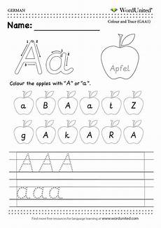 german worksheets for adults 19592 read and write the german alphabet wordunited free worksheet mfl german alphabet a apfel