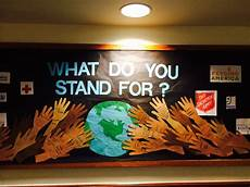 college ra bulletin board what do you stand for residents wrote a cause charity or