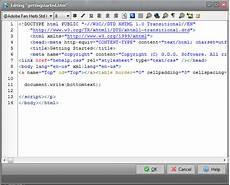 internal html editor