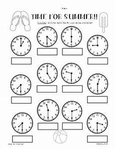 time worksheets hour and half hour 2913 summer telling time practice worksheet pack hour half hour quarter hour
