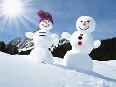 two snowmen stock image image of cold blue alps