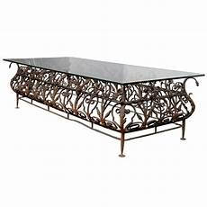 wrought iron coffee tables with glass top austrian mid 19th century large size wrought iron and