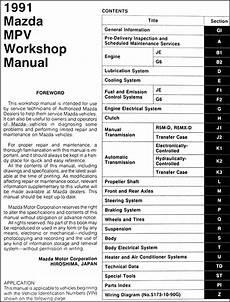 small engine maintenance and repair 1990 mazda mpv interior lighting 1991 mazda mpv repair shop manual original