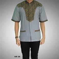 kemeja batik koko pria modern kr 36