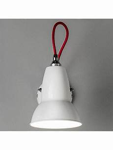 anglepoise duo wall light alpine white with braided cable at lewis partners