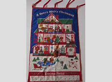 beary merry christmas fabric panel