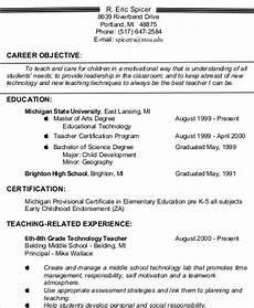 carer objective for teacher in resume teacher resume objective 6 exle in word pdf