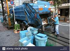 Garbage Collection by Garbage Collection System In Tokyo Japan Stock Photo