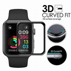 protection apple serie 3 3d curved coverage tempered glass protective for