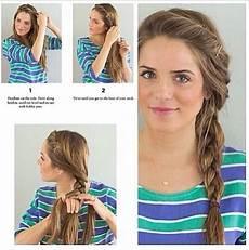 simple side braid easy hairstyles for school