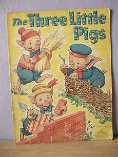 classic children s books with animals antique 1930 s three little pigs children s book 1939 milo winter illustrator fairy tale book