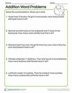 practice test word problems worksheet education com