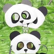 masque de panda en assiette en carnaval paper