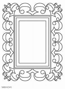 picture frame free printable coloring pages