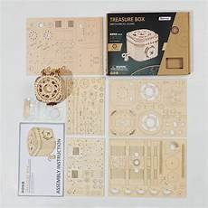 Newest Wooden Puzzle Assembly Gift Children by New Wood Creative Diy 3d Treasure Box Wooden