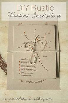 diy rustic wedding invitations megan handmade