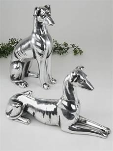 2er sparset windhund antik silber deko objekt hund