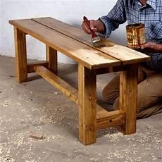 banc bois massif comment fabriquer un banc en bois massif bricobistro