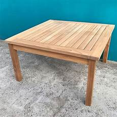 Solid Teak Wood Large Square Coffee Table Garden Outdoor