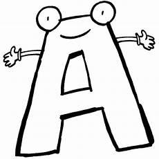 Www Kinder Malvorlagen Buchstaben Text Das Alphabet Beim Ausmalen Lernen Der Buchstabe A Steht