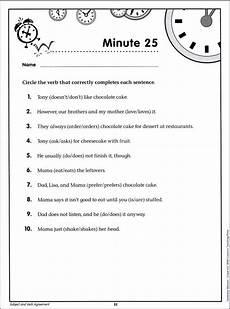 grammar worksheets sixth grade 24982 grammar minutes grade 6 creative teaching press 9781606891254
