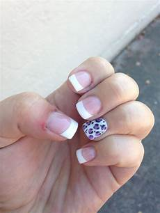 french tips with cheetah accent nail sooo cute with