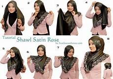 Tutorial Memakai Jilbab Modern Pashmina Bahan Satin Terbaru