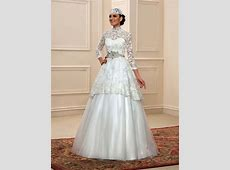 Lace High Neck Muslim Wedding Dress with Hijab : Tidebuy.com