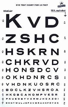 Snellen Eye Examination Chart Amazon Com Snellen Type Plastic Eye Chart 10