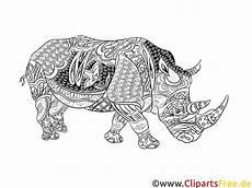 Ausmalbilder Tiere Zum Ausdrucken Erwachsene Ausmalbilder F 252 R Erwachsene Zum Ausdrucken Nashorn