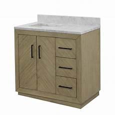 peyton 36 quot modern bathroom vanity oak with carrara marble