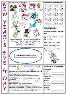 new year s day vocabulary exercises worksheet free esl printable worksheets made by teachers