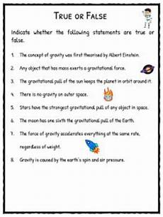 gravity facts worksheets for forces of the