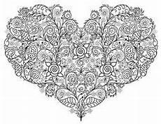 Malvorlagen Herz Challenge Wolf Zentangle Ausmalbild Mandalas