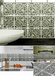 Kitchen Backsplash Stickers 25cmx25cm Tile Decals Set Of 16 Tile Stickers For Kitchen