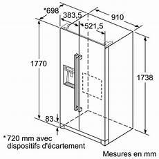 dimension frigo americain encastrable dimension standard frigo americain choix d 233 lectrom 233 nager