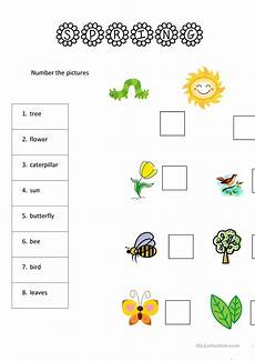 8 spring worksheets for yls worksheet free esl printable