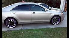 toyota camry sitting on 20 inch rims with rim lights youtube