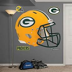 green bay packers wall stickers fathead 174 nfl green bay packers revolution helmet wall