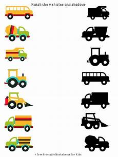 worksheets on vehicles 15217 vehicles shadow matching free printable worksheets for