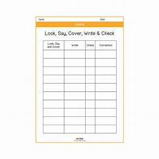 worksheets ks2 printable 18929 look say cover write check spelling sheet template creative writing melloo