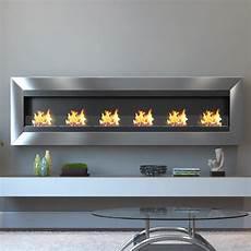 Ethanol Tischfeuer Edelstahl - moda verrazano 82 in wall mounted ethanol fireplace