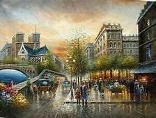 Stunning Oil Painting Impressionism Paris Street Scene