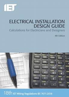 electrical installation design guide calculations for electricians and designers 4th edition
