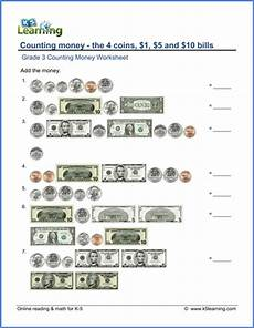 grade 3 counting money worksheets free printable k5 learning