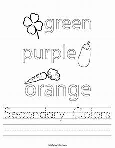 secondary colors worksheets 12813 secondary colors worksheet twisty noodle