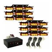 Yehard 4 LED Strobe Lights For Trucks Cars 12V Universal